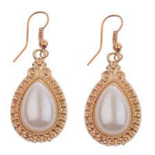 Alloy Earrings For Lady Dw-Eh-He087 Bohemian Elegant Simulated Water Drop Pearl