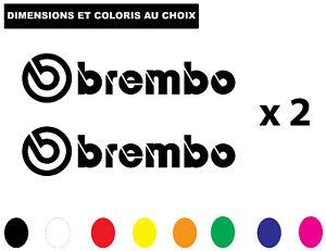 Sticker BREMBO Etrier de Frein Autocollant Adhesif Véhicule Moto Biker Deco
