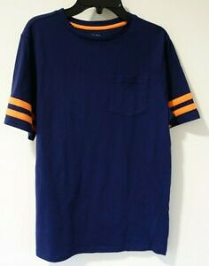NWT Zelos Navy W/Orange Trim Tee Shirt Size Large / 14-16