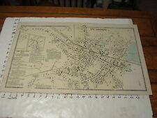 "1872 MASSACHUSETTS TOWN MAP 16"" X 26"": PEABODY"