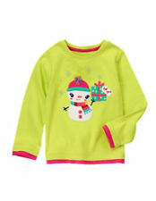 NWT Gymboree girl 18-24 mos green snowman top shirt COLOR HAPPY (B77,60,79,78)
