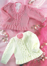 baby girls child cardigan 4 ply knitting pattern 99p