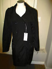 Andrew Marc NY Celeste Double Breasted Trench Coat XL Black NWT Missing Belt