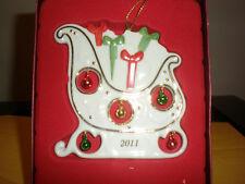 Lenox 2011 Jolly Jingle Sleigh Ornament New In Box