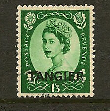TANGIER :1956 St Edward Crown 1/3d green  overprinted TANGIER  SG322 used
