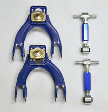 Honda Civic Integra EG DC Front & Rear Camber Kit Control Arms - Blue