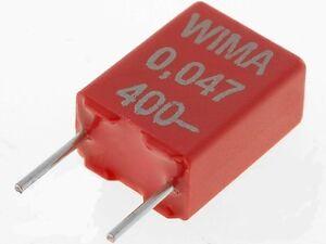 WIMA 47nF 400VDC 5mm ±10% MKS2 Condensatore in poliestere