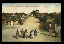 Africa France Cols  Afrique Occidentale Senegal DAKAR Village Indigene PPC 1916