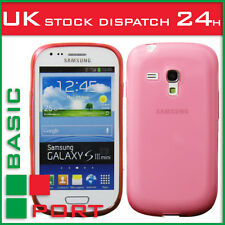 New Design Inner Scrub Silicon Case for Samsung Galaxy S3 mini I8190 - Red