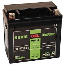 Orbis Motorradbatterie GEL 51214 14Ah 12V Starterbatterie YTX14-BS *NEU*