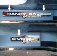 RANGE ROVER EVOQUE DOOR SILL TREAD PLATES FULL SET OF 4 CHROME/ BRUSHED