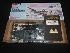 MONOGRAM PA162, 1/72 Bf 110E-1 PLASTIC MODEL KIT W/ TRUE DETAILS WHEEL SET