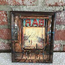 """Artista Plastico Artist F. Panarisi Cafe Bar la Perla"""" Framed"""