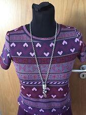 EXHIBIT SIZE 8 Ladies Shirt Sleeved Top Maroon, Mauve, Pink
