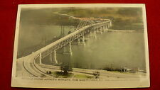 Pattullo bridge Pacific Highway postcard colourized Gowan Sutton RCAF photo #755