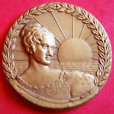 Monarchy Queen Maria II The Educator Sunset Sea Ocean Maximaphily Bronze Medal!