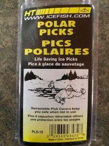 HT POLAR PICKS - PLD-10 - Life Saving Ice Picks-Spring Loaded Shields for Points