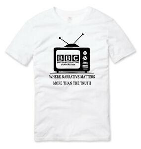 BBC British Bullsh*tting Corporation Fake News Social Engineering T Shirt White