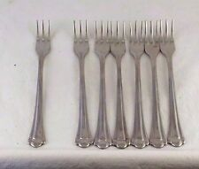 FARBERWARE STAINLESS ROMANCE 7 Cocktail Forks Fan End