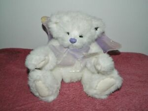 Annette Funicello White Collectible Bear Angel Angelica #53 Purple Wings & Bow