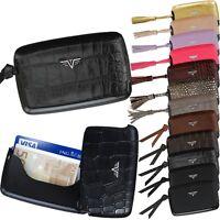 TRU VIRTU Leder Aluminium ec Kartenetui Kreditkartenetui Tassel Credit Card Case