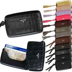 TRU VIRTU Leather Aluminium Ec Card Case Credit Card Case Tassel