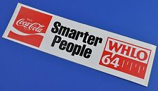 Grande Coca Cola Adesivo USA 1981 Adesivo Decalcomania Noi Radio Smarter People