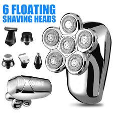 Electric Shaver 6 Head Razor Bald Beard Hair Skull Trimmer Beard Remover Men