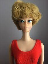 Vintage Barbie Doll #850 Bubble Cut 1964 Red Swim Suit Straight Leg Japan