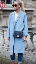 Zara Blue Steel Masculine Coat Jacket Size Large Ref.7569/576