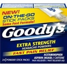 GOODY'S EXTRA STRENGTH HEADACHE POWDERS 24 on the go packs