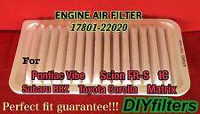 AF5463 Engine Air Filter for Vibe / FR-S, tC / BRZ / Corolla, Matrix 17801-22020