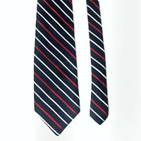Givenchy Men's Blue Red White Striped Silk Neck Tie