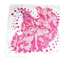 Hermes Scarf I HOLA FLAMENCA Silk 90 cm Pink with Box Carre Shawl Stole ME250