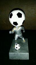 "Soccer Ball Bubble Head Soccer Player Statue 5.5""(2) units."
