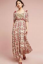 Anthropologie NWT Bhanuni Beaded Embroidered Floral Sidella Maxi Dress S 6 $268