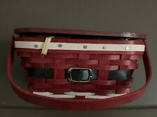 Longaberger Collector Club Life's a Picnic Santa Belly Cake Basket set & prot