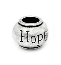 Hope Inspirational Message Word Spacer Bead fits Silver European Charm Bracelets
