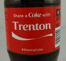 Share A Coke With Trenton Limited Edition Coca Cola Bottle 2015 USA