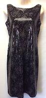 Robert Louis Black/Silver Cocktail Dress Women Size 4 Sequins Sleeveless NWT $99