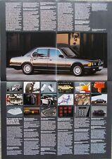 Poster BMW Modellprogramm 1985 - 1/85  3er E30 5er E28 6er E24 7er E23 M6