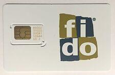 Fido Regular Standard Sim Card V2 2G 3G   - Prepaid Postpaid Canada Travel