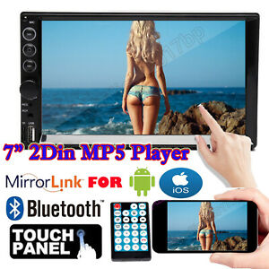 Double 2 Din Car Stereo Audio In Dash MP5 Radio Bluetooth 7inch For Toyota Honda