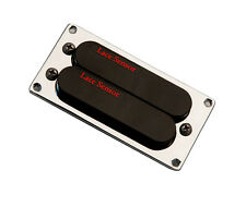 Lace Dually T-Plus Humbucker (Red/Red) w/Trim Ring - black