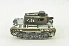 Frankonia Thunderbolt 4U Cap Action Military Tank Tin Toy Untested