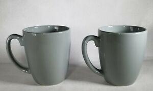Vintage Corelle Gray Coordinates Stoneware 12 oz Mugs/Cups Set Of 4, Coffee Tea