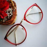Clear Lenses Glasses Optical Transparent Metal Frame Spectacles Women Eyeglasses