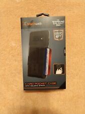 Blackweb Card Pocket Case Samsung Galaxy S10 w/ Holding Strap - NEW SHIPS FAST!