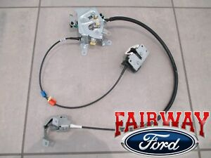 99 thru 07 Super Duty OEM Ford Rear Door Latch & Cable Extended Cab LEFT DRIVER