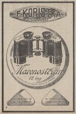 Z2937 Binocoli Marenostrum KORISTKA - Pubblicità d'epoca - 1917 old advertising